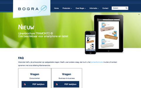 Screenshot of FAQ Page bogra.nl - FAQ - Bogra - captured Oct. 5, 2014