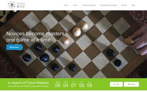 Screenshot of Home Page chesskidz.org - CHESSKIDZ | Welcome to CHESSKIDZ.org - captured July 20, 2015