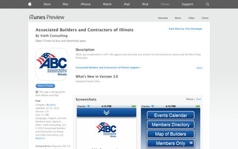 Screenshot of iOS App Page apple.com - Associated Builders and Contractors of Illinois on the App Store on iTunes - captured Oct. 23, 2014