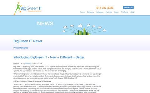 Screenshot of Press Page biggreenit.com - BigGreen IT   News - captured Sept. 30, 2014