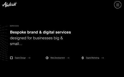 Screenshot of Services Page weareabstrakt.com - Services | Brand & Digital Agency | Abstrakt - captured Nov. 21, 2019