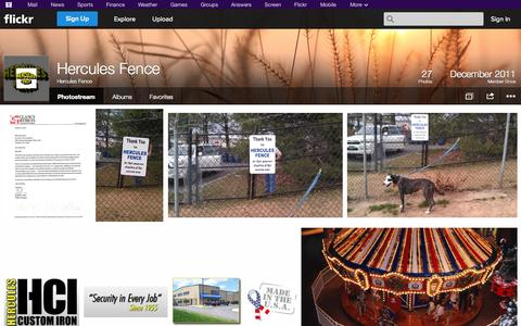 Screenshot of Flickr Page flickr.com - Flickr: Hercules Fence's Photostream - captured Oct. 23, 2014