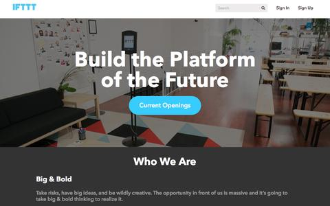 Careers at IFTTT - Build the Platform of the Future