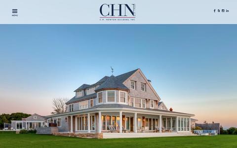 Screenshot of Home Page chnewton.com - C.H. Newton Builders, Inc. | Cape Cod - Boston - Newport - captured Sept. 28, 2016