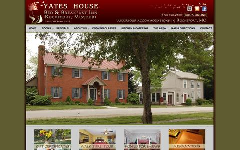 Screenshot of Contact Page Maps & Directions Page yateshouse.com - Rocheport MO, Central Missouri Bed and Breakfast, Katy Trail Rocheport - captured June 21, 2016