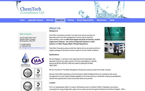 Screenshot of About Page chemtechconsultancy.co.uk - ChemTech Consultancy Ltd - About Us - captured Oct. 2, 2014