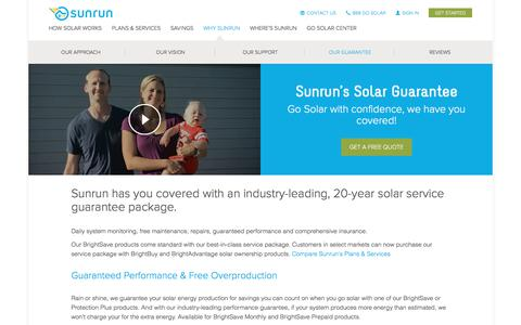Screenshot of sunrun.com - Solar Guarantee   Solar Performance Guarantee   Sunrun - captured June 24, 2017