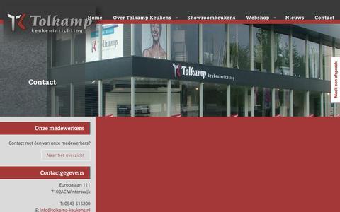 Screenshot of Contact Page tolkamp-keukens.nl - Tolkamp Keukens - Contact - captured Dec. 2, 2016