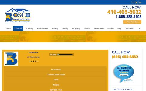 Screenshot of Press Page mybosco.com - Bosco Home Services - Media Page - Mississauga, ON - captured Nov. 3, 2014