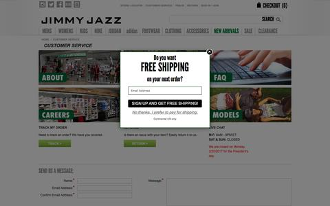 Customer Service & FAQs | Jimmy Jazz Clothing & Shoes