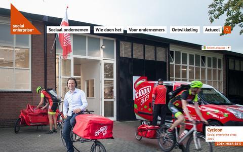 Screenshot of Home Page social-enterprise.nl - Social Enterprise NL :: Home - captured Feb. 15, 2016