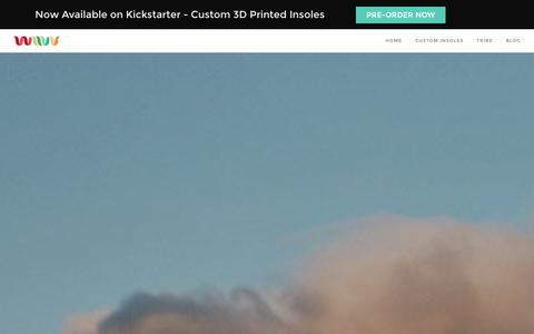 Screenshot of Home Page wiivv.com - Wiivv - 3D Printed Custom Insoles - captured Jan. 27, 2016