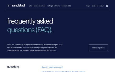FAQ | Randstad USA