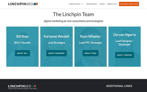 Screenshot of Team Page linchpinseo.com - The Linchpin Team of Top Marketing Consultants and Strategists - captured Jan. 12, 2018