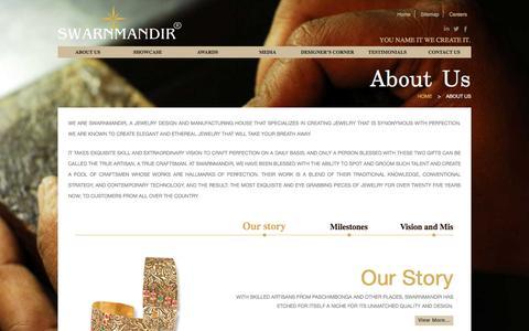 Screenshot of About Page swarnmandir.com - Swarnmandir - captured Nov. 18, 2016
