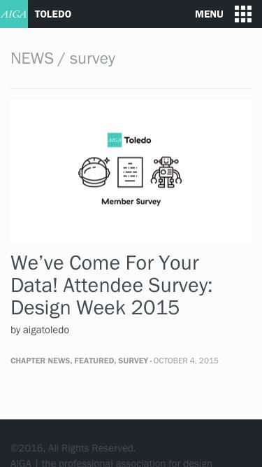 survey | AIGA Toledo