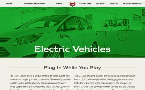 Screenshot of redhawkcasino.com - RedHawk | Electric Vehicles - captured March 20, 2016