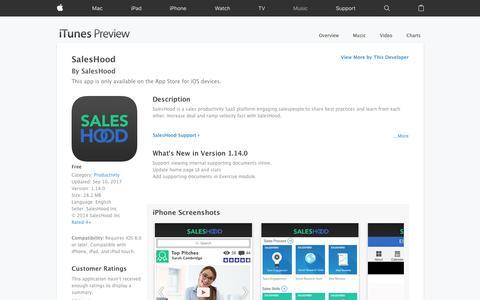 SalesHood on the App Store