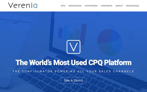 Verenia - The World's Most Used CPQ Platform