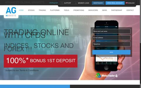 Screenshot of Home Page ag-markets.com - Forex Broker - Start trade with AG-markets.com - captured Feb. 5, 2016