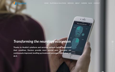 Screenshot of Home Page healint.com - Healint - captured July 12, 2018