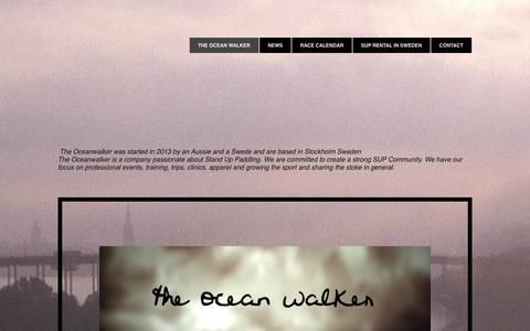 Screenshot of Home Page theoceanwalker.com - the ocean walker - captured Sept. 30, 2014