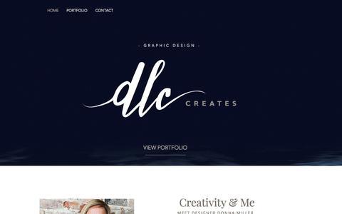 Screenshot of Home Page dlccreates.com - dlccreates - captured Oct. 12, 2017