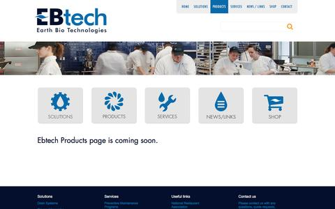 Screenshot of Products Page ebtech.pro - Products | EBtech - captured July 9, 2016