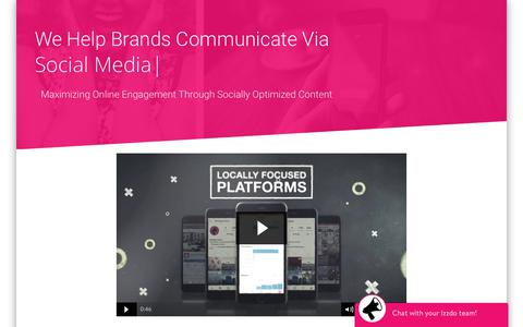 Screenshot of Home Page izzdo.com - Izzdo Digital Produces Socially Optimized Video & Builds Modern Media Platforms - captured July 8, 2018