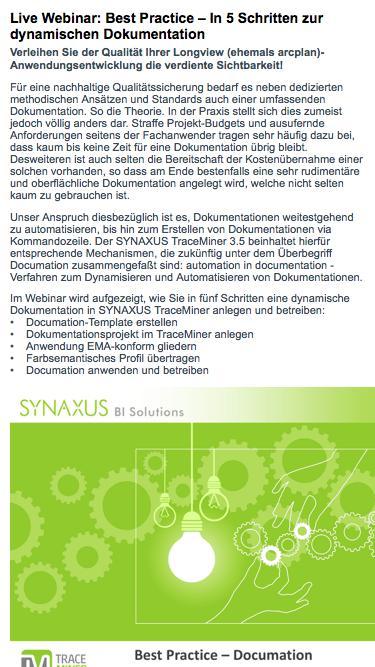 Webinar Best Practises Synaxus