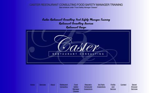 Screenshot of Home Page casterconsulting.net - Food Safety Manager Training - Caster Restaurant Consulting - captured Oct. 26, 2016