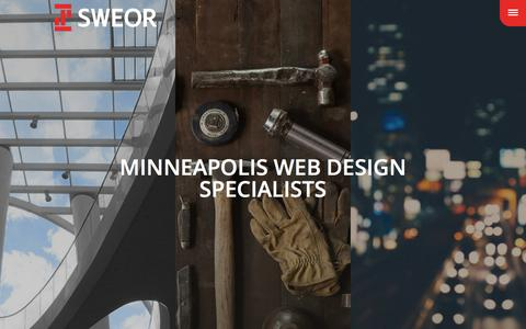 Screenshot of Home Page sweor.com - Sweor | Minneapolis Web Design - captured June 26, 2016