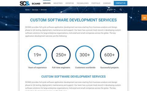 Screenshot of Services Page scand.com - Custom Software Development Services | SCAND - captured June 22, 2019
