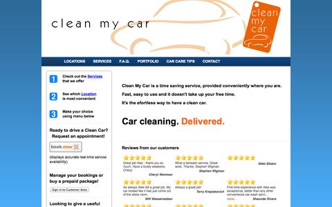 Screenshot of Home Page ecofriendlycarwash.net - Clean My Car  - Your on-site car cleaning and detailing service in the Greater Vancouver area - captured Sept. 29, 2014