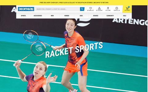 Screenshot of decathlon.co.uk - Badminton & Squash Shop | Decathlon - captured July 20, 2017