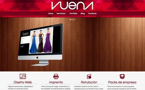 Screenshot of Home Page vuena.net - Vuena - Publicidad y Diseño - captured Aug. 16, 2015