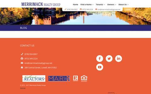 Screenshot of Blog merrimackrealtygroup.net - Blog - Merrimack Realty Group - captured Oct. 18, 2017