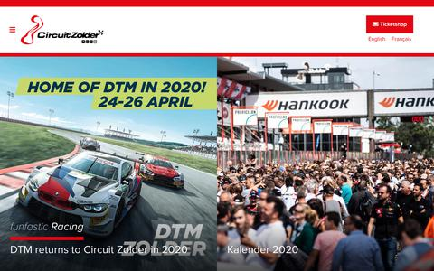 Screenshot of Home Page circuit-zolder.be - Welkom op Circuit-zolder, een funfastic circuit! - Circuit Zolder : Circuit Zolder - captured Nov. 10, 2019