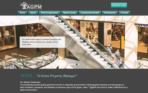Screenshot of Home Page agpmonline.com - Orlando Offices For Rent | Nationwide Apartments For Rent | AGPM, LLC - captured Oct. 2, 2018