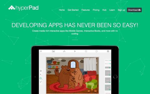 Screenshot of Home Page hyperpad.com - hyperPad - captured Sept. 20, 2015