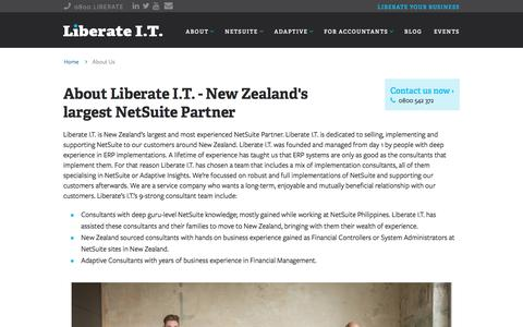 Screenshot of Team Page liberateit.co.nz - New Zealand's largest NetSuite Partner - Liberate I.T. - captured May 17, 2017