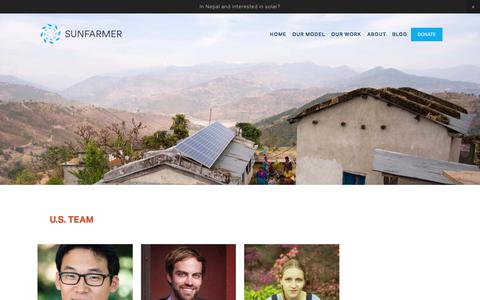 Screenshot of Team Page sunfarmer.org - Team — SunFarmer - captured Sept. 21, 2018
