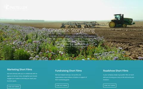 Screenshot of Home Page cinetellers.com - Home - Cineteller Productions - captured Sept. 20, 2015