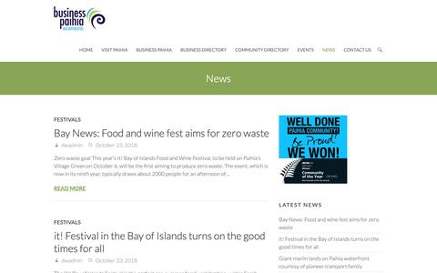 Screenshot of Press Page paihianz.co.nz - News | Paihia NZ | Paihia NZ - captured Dec. 3, 2018