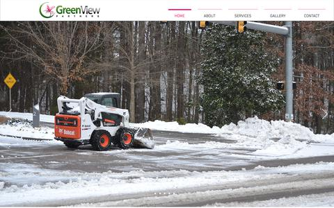 Screenshot of Home Page greenviewpartners.com - Commercial Landscape Maintenance | North Carolina | GreenView Partners - captured July 25, 2018