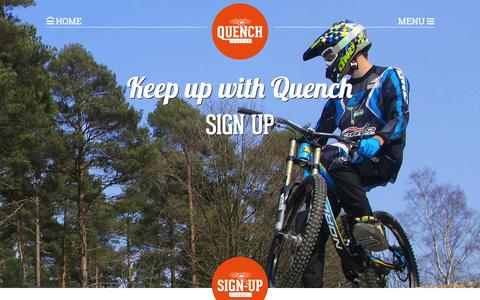 Screenshot of Signup Page quenchuk.co.uk - Sign Up | Quench Cycles - captured Feb. 2, 2016