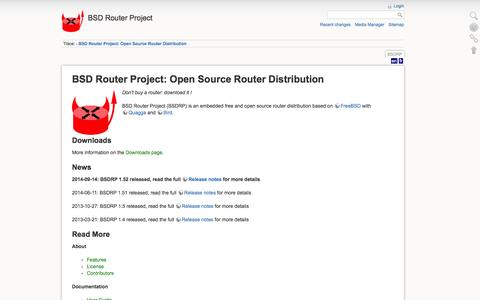 Screenshot of Home Page bsdrp.net - BSD Router Project: Open Source Router Distribution [BSD Router Project] - captured Oct. 4, 2014