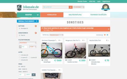 Screenshot of Trial Page bikesale.de - Fahrrad suchen - bikesale.de - Dein Fahrradmarktplatz - captured Oct. 11, 2017