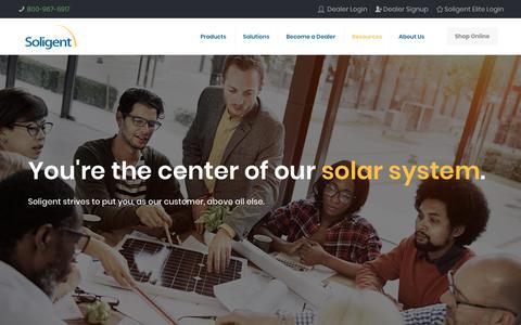 Screenshot of Support Page soligent.net - Support & Resources – Soligent - captured Nov. 7, 2018