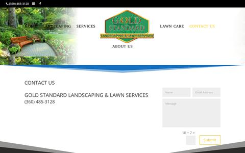 Screenshot of Contact Page goldstandardlandscaping.com - Contact Us | Gold Standard Landscaping and Lawn Services - captured Sept. 26, 2018